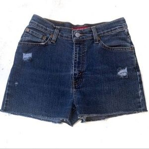 Levi's High Rise Distressed Shorts 6
